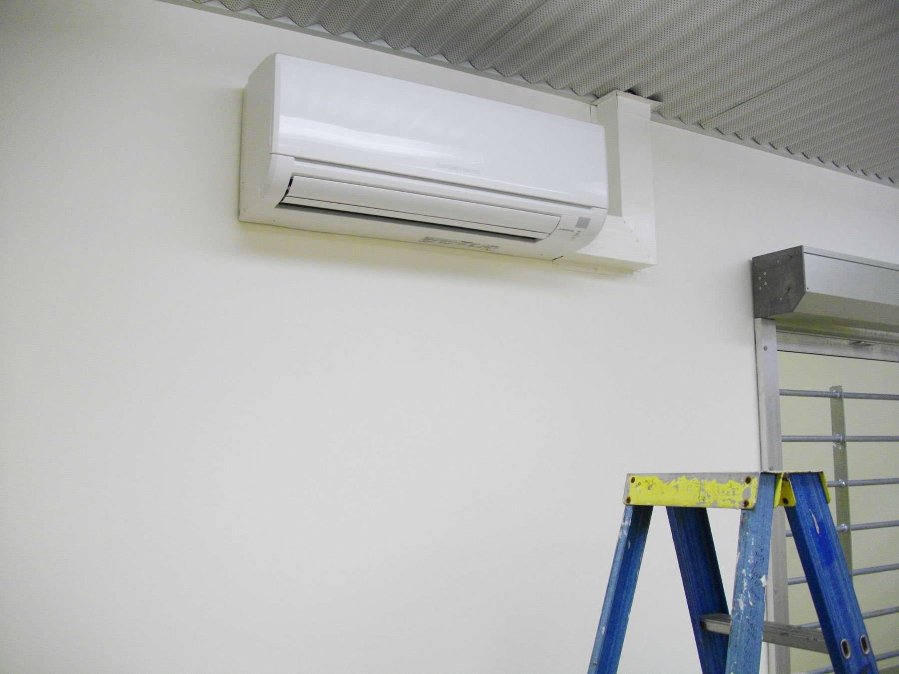 Split system air conditioner mounted on the wall